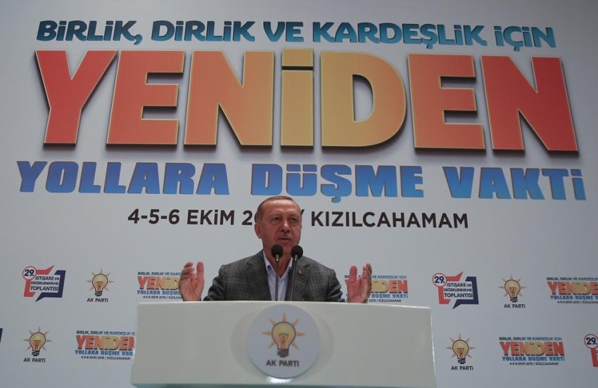 Cumhurbaşkanı Erdoğan'dan partililerine uyarı
