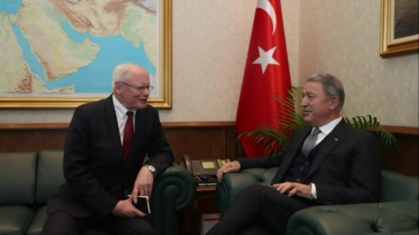 Akar, ABD'nin Suriye Özel Temsilcisi Jeffrey'i kabul etti