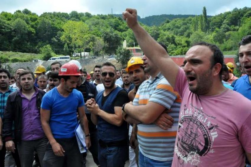 Madenciler grevde