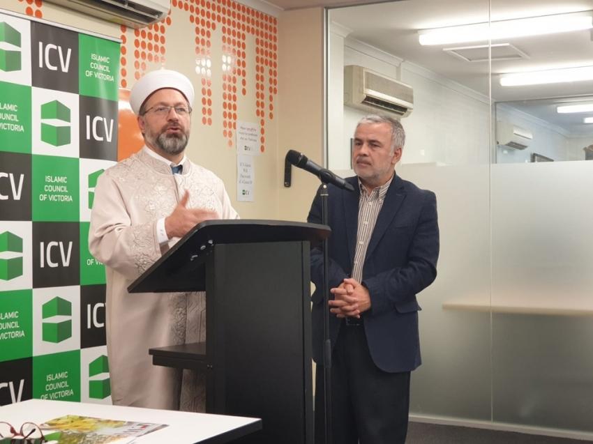 Diyanet İşleri Başkanı Erbaş Avustralya'da Müslüman toplumu ile bir araya geldi
