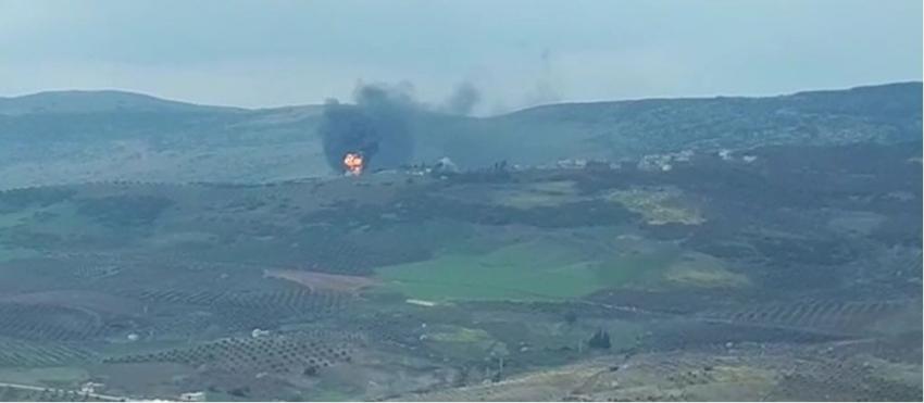 Afrin'de cephanelik imha edildi