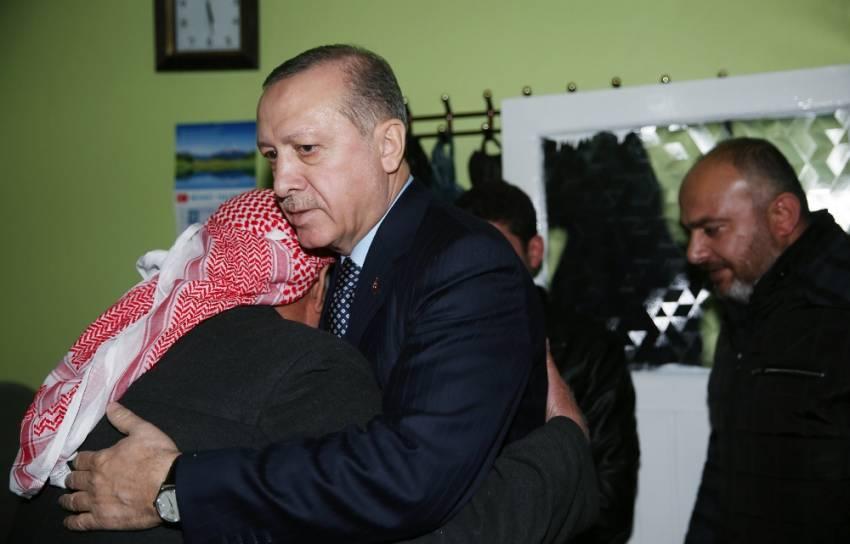 Cumhurbaşkanı Erdoğan'dan şehit polisin ailesine ziyaret