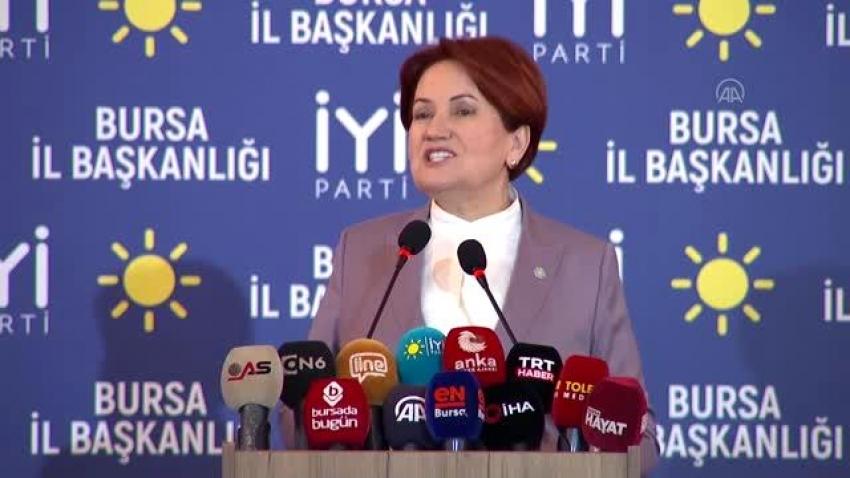 Akşener'den Bursa'da flaş açıklamalar