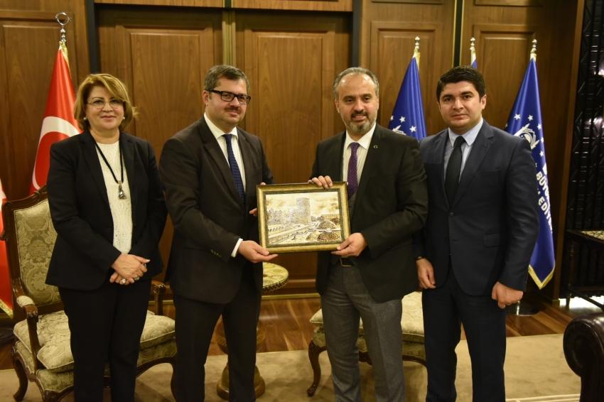 Azerbaycan ve Rusya ticaret için Bursa'da