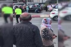 Anadolu Adalet Sarayı otoparkında sıcak anlar kamerada
