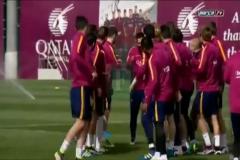 Arda Turan Barcelona idmanında dayak yedi!