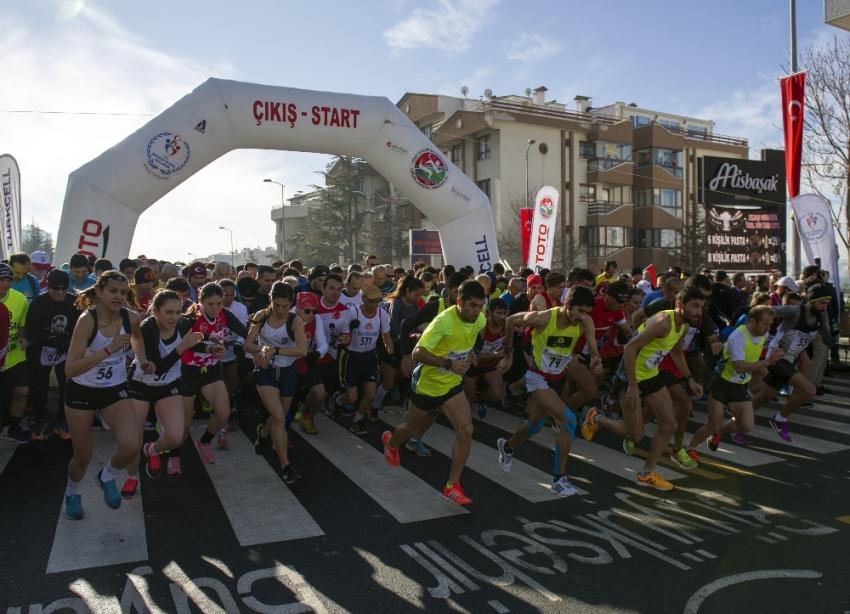 Büyük Atatürk Koşusu'nda 82. yarış yapıldı
