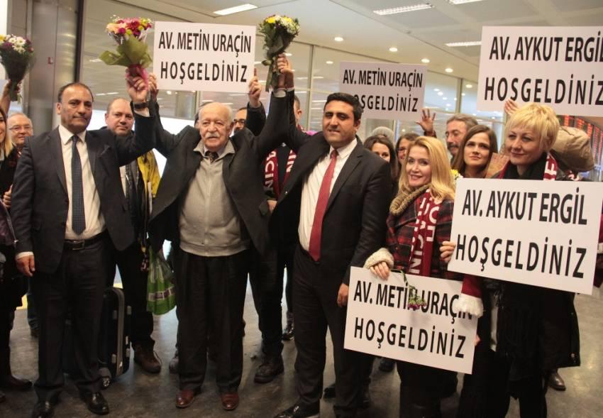 BAE'de yargılanan avukatlar yurda döndü