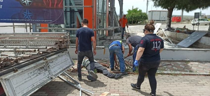 Bursa'da elektrik akımına kapılan işçi...