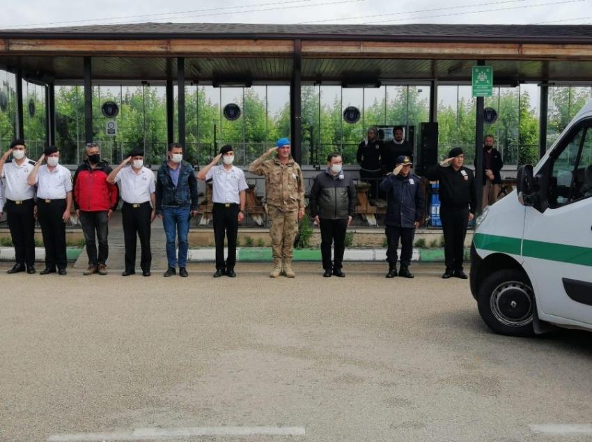 Bursa'da Jandarma uzman çavuşa veda