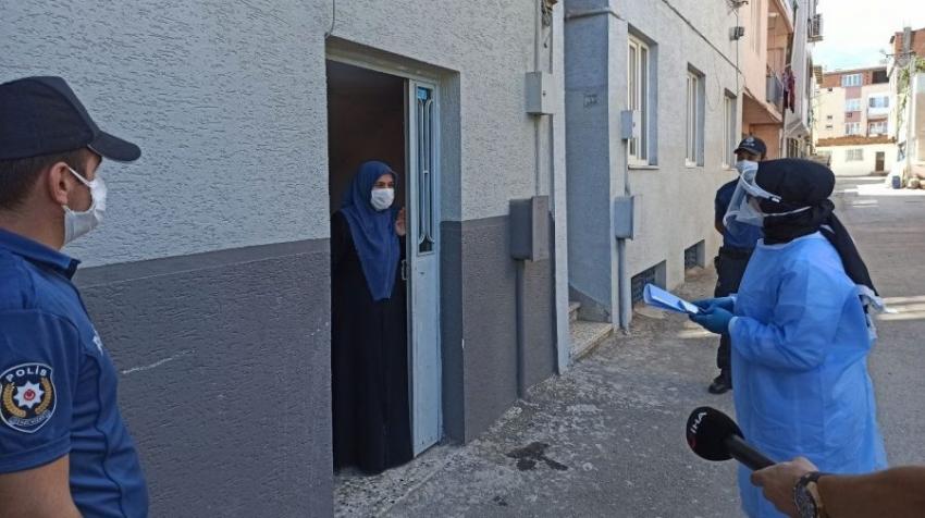 Bursa'da sokak sokak virüs denetimi
