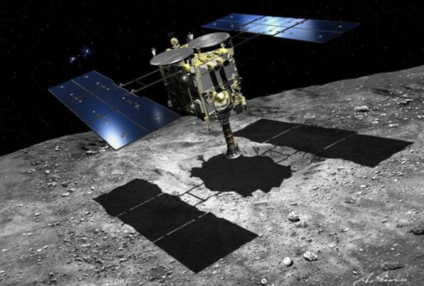 Hayabusa 2 uzay aracı 'kozmik elmasa' ulaştı