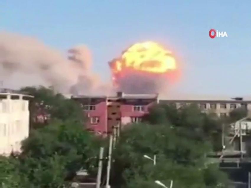 Kazakistan'da askeri mühimmat deposunda patlama:11 yaralı