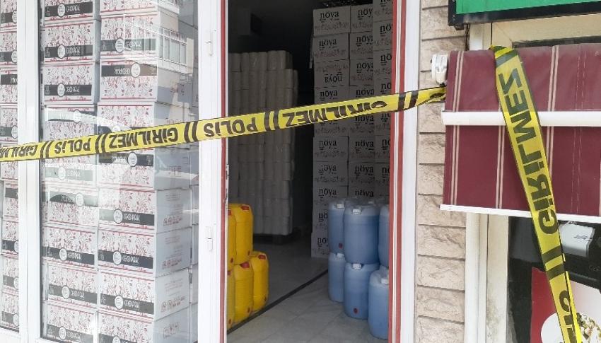 3 ton sahte dezenfektan ele geçirildi