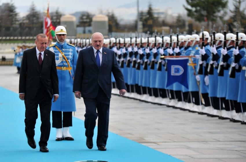 Belarus Cumhurbaşkanı Aleksandr Lukashenko Ankara'da