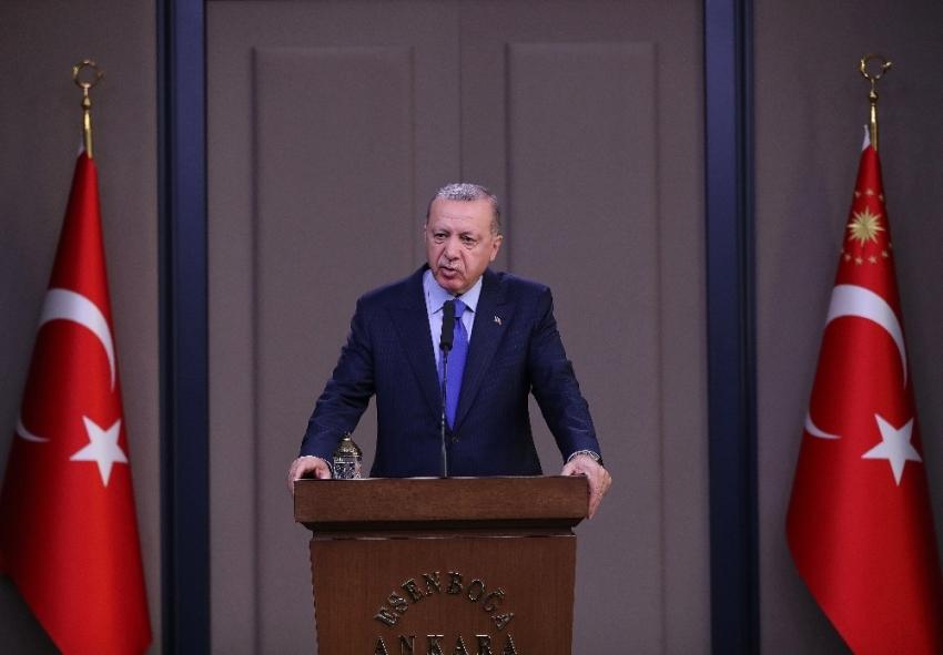 Cumhurbaşkanı Erdoğan'dan KKTC'nin 36. kuruluş yıl dönümü mesajı