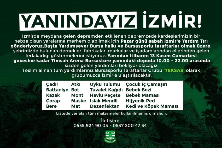 Teksas'tan İzmir için yardım kampanyası
