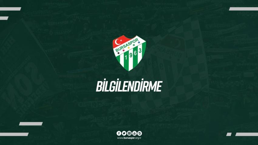 Bursaspor'un test sonuçları açıklandı