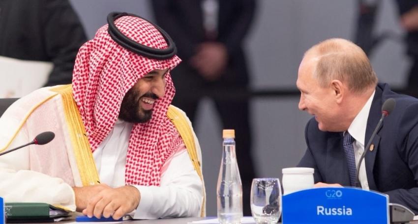 Putin ile Suudi Prens'ten samimi sohbet