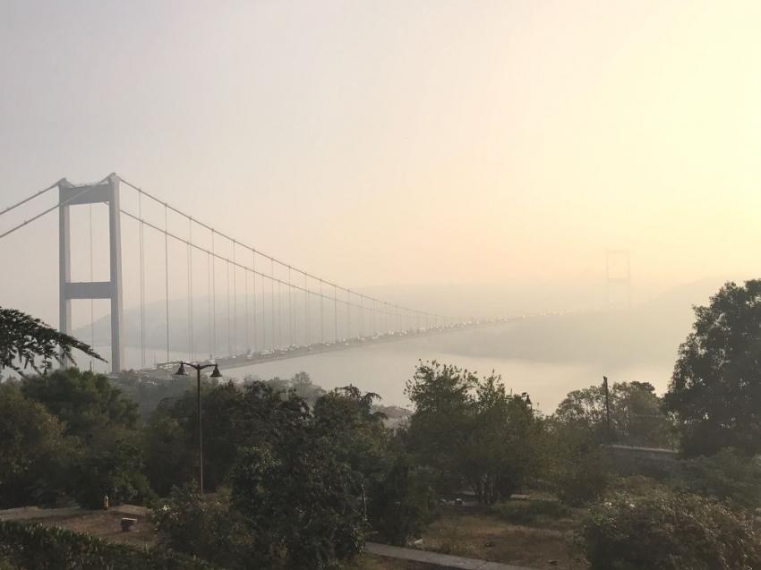 İstanbul Boğazı'ndan kartpostal gibi görüntü