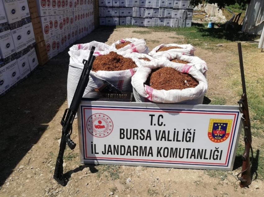 Bursa'da 260 kilo kaçak tütün ele geçirildi