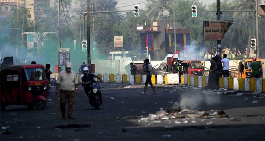 Protestocularla güvenlik güçleri arasında çatışma