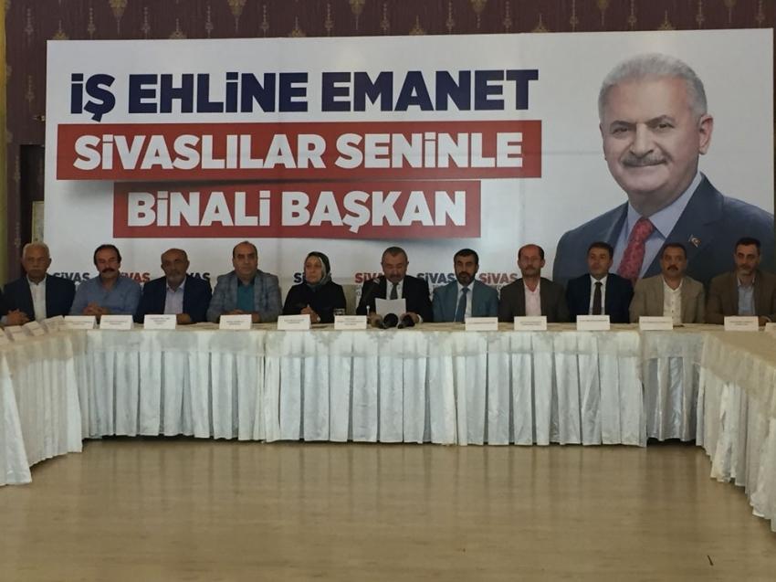 Sivaslılardan Binali Yıldırım'a tam destek