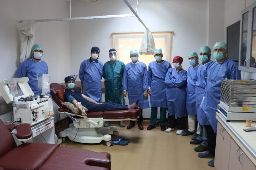 SEAH'ta korona virüsüne karşı 'plazma' yöntemiyle tedavi başlandı