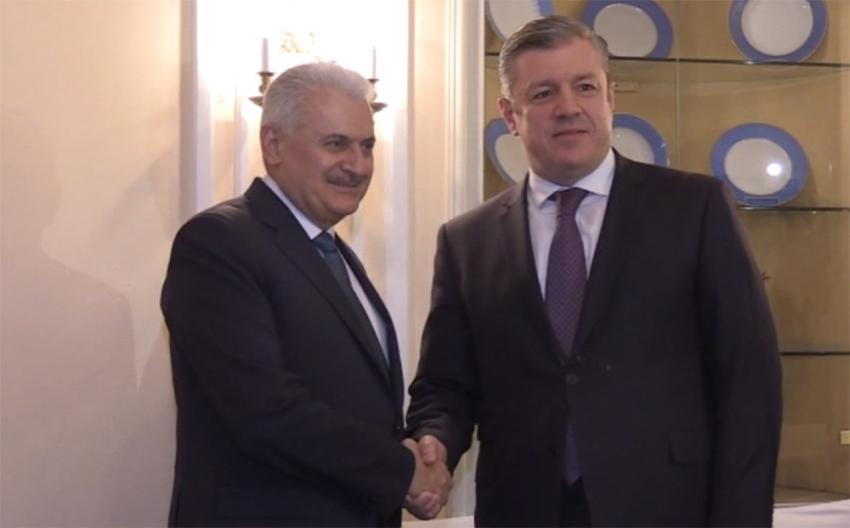Başbakan Yıldırım, Gürcü mevkidaşı ile görüştü