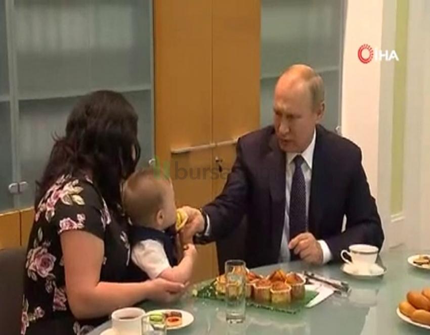 Putin'den gülümseten görüntüler