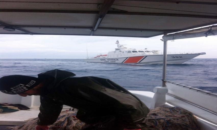 Yunan askerleri Türk balıkçı teknelerini taciz etti