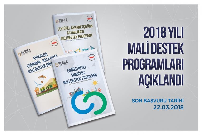 BEBKA 2018 yılı mali destek programlarını açıkladı