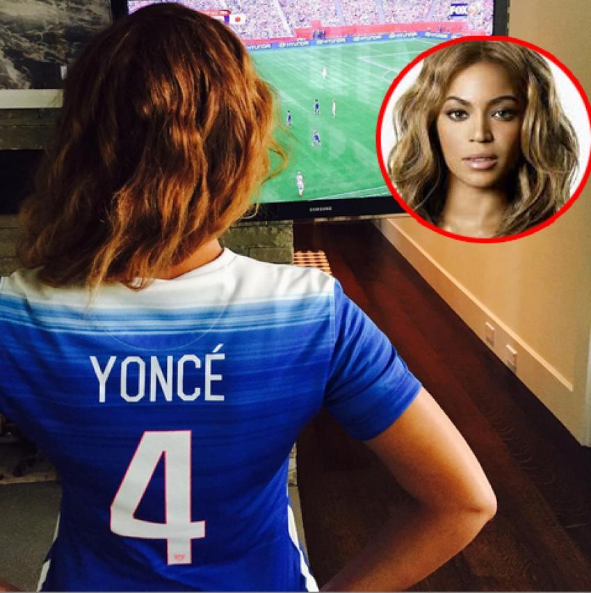 Beyonce ülkesinin final maçını kaçırmadı