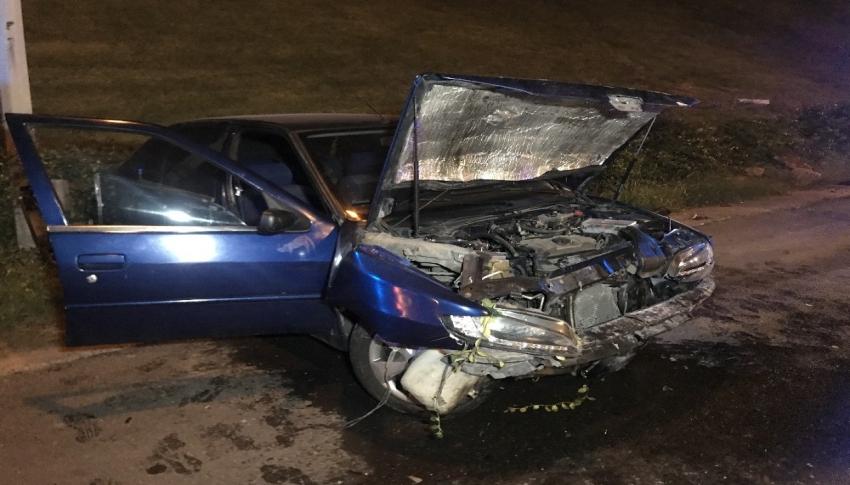 Sürücü kaza yaptı: 2 yaralı