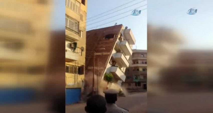 5 katlı bina böyle çöktü!
