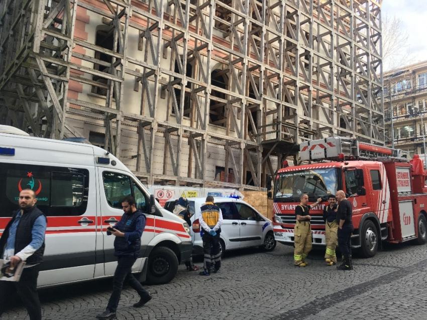 Restorasyon halindeki binada dehşet