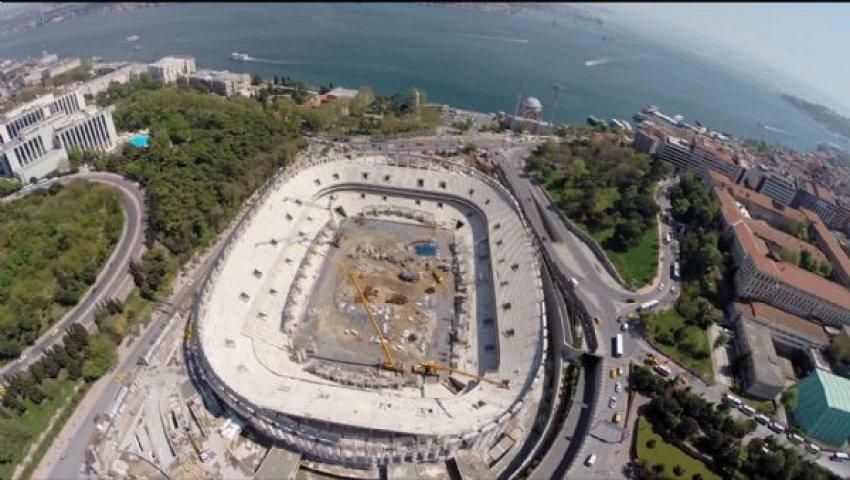 Vodafone Arena'nın kaba inşaatı bitti.