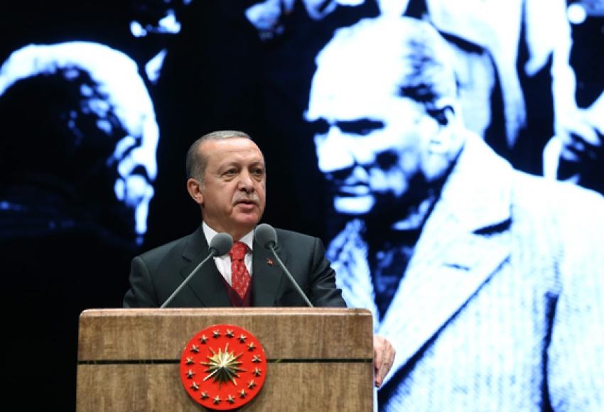 """Erdoğan: """"Misak-ı Millimize yeniden sahip çıkmak zorundayız"""""""