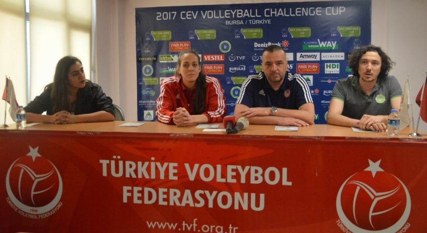 Bursa Büyükşehir Belediyespor & Olympiakos - Basın Toplantısı