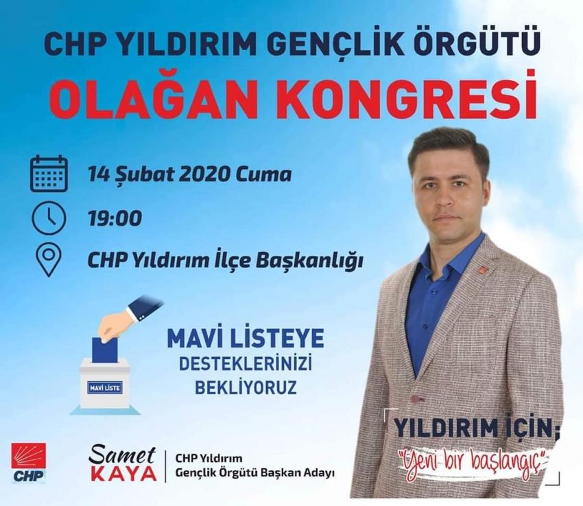 CHP Yıldırım Gençlik Kolları'nda seçim heyecanı