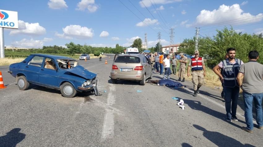 Adıyaman'da feci kaza: 1 ölü, 1 yaralı