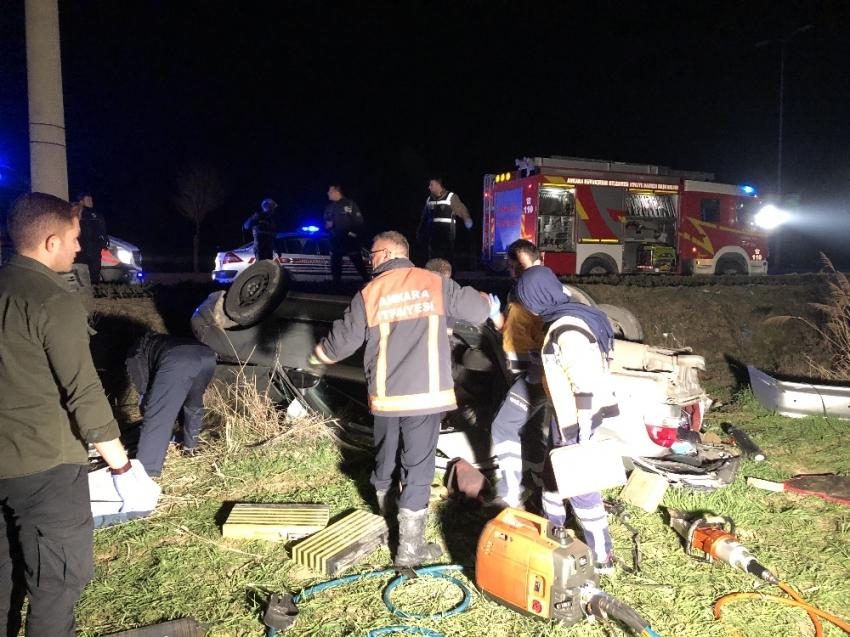 Başkent'te trafik kazası: 3 ölü, 2 yaralı