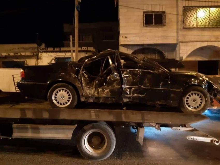 Gazze'de trafik kazası: 2 ölü, 1 yaralı