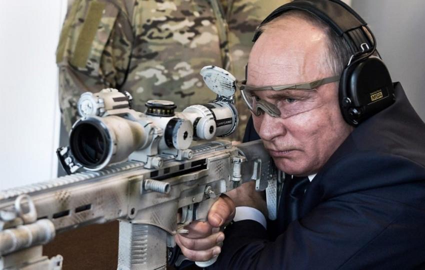 Putin hedefi 600 metreden vurdu