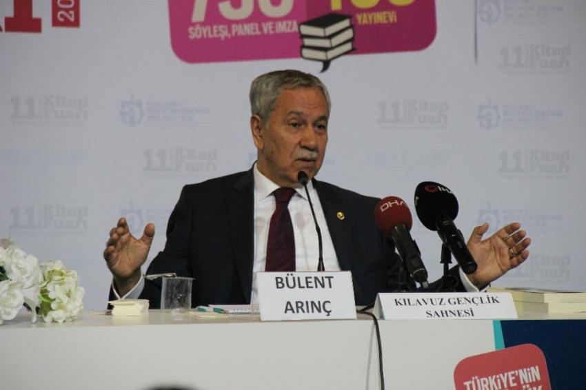 """Bülent Arınç: """"AK Parti'de düşecek bir çınar yaprağına bile tahammülümüz yok"""""""