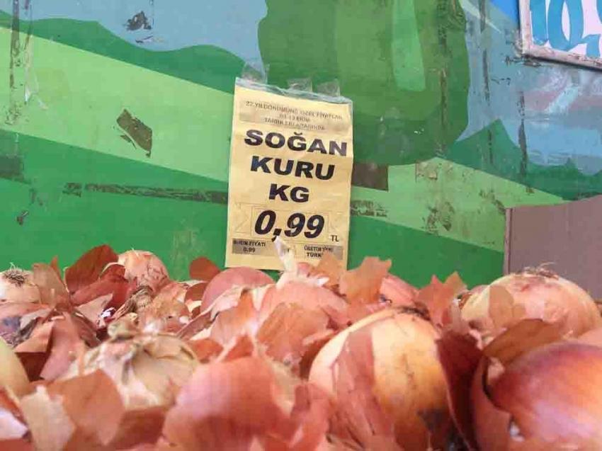 Sebze meyve fiyatları dibi gördü