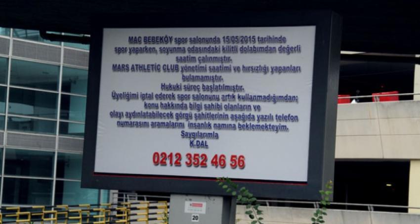 30 bin dolarlık saate billboardlı ilan!
