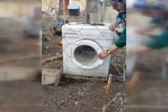 Çamaşır makinesinden bakın ne yaptılar!