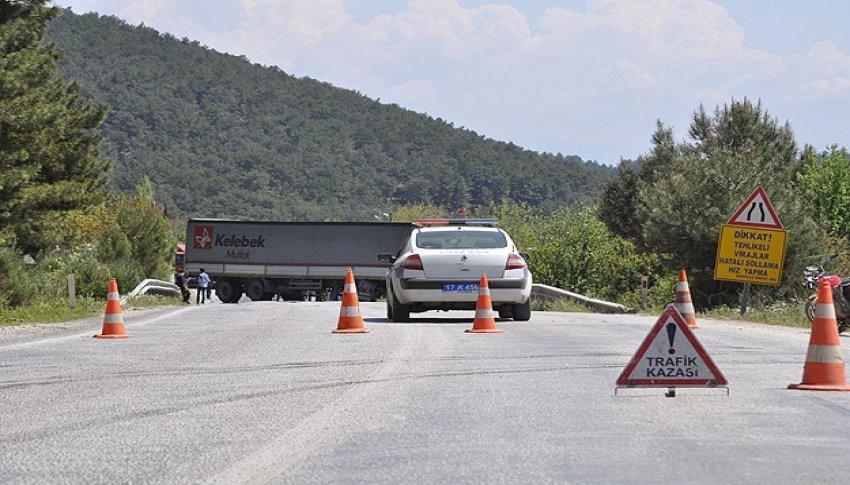 Çanakkale-İzmir yolununda korkutan kaza