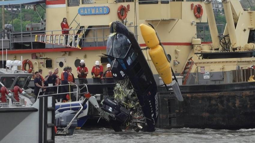 Helikopter Hudson Nehri'ne düştü